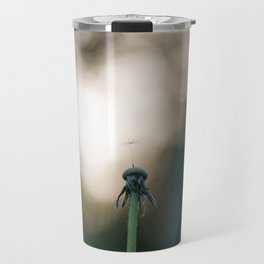 Dandelion blossom defocused Travel Mug