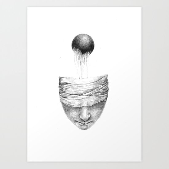 get your head out of the covers... Art Print