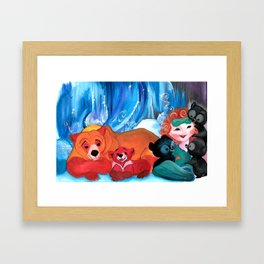 HiBEARnation with Merida Framed Art Print