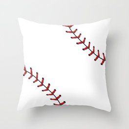 Softball Baseball design red laces Throw Pillow