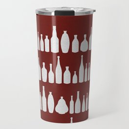 Bottles Red Travel Mug