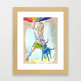 Lolly Popper & Kona the Barbarian Framed Art Print