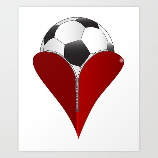 Love Soccer Art Print