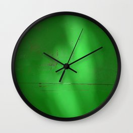 Green Light Spots Wall Clock