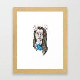 Teen in Love Framed Art Print
