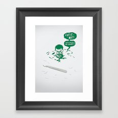 Cut It Out - Anger Framed Art Print