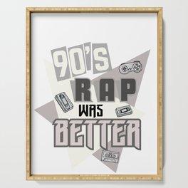 90s Rap Music graphic Retro Hip Hop Rapper design Serving Tray