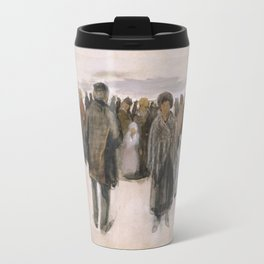 Vincent van Gogh - Beach at Scheveningen, 1882 Travel Mug