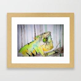 Jungle iguana Framed Art Print