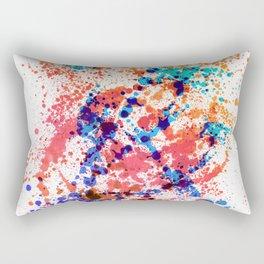 Wild Style - Abstract Splatter Style Rectangular Pillow