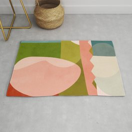 shapes geometry art mid century Rug
