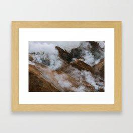 Kerlingjarfjöll smoky Mountains in Iceland - Landscape Photography Framed Art Print