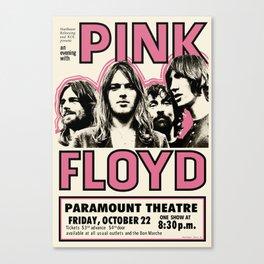 PinkFloyd Meddle Concert Tour 1971 (digitalized) Canvas Print
