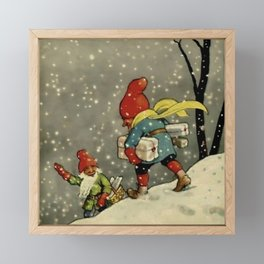 """""""Through the Snowstorm"""" by Jenny Nystrom Framed Mini Art Print"""