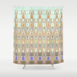 Zentangle Brown Shower Curtain
