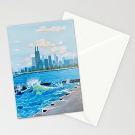 City on the Lake Stationery Cards