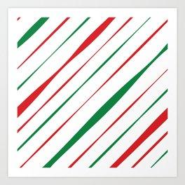 Christmas Stripes Art Print