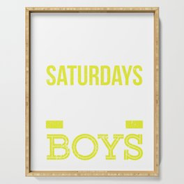 Saturdays Are Fore The Boys Funny Golf Serving Tray
