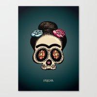 frida Canvas Prints featuring Frida by mangulica