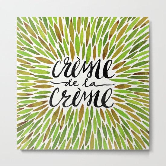 Crème de la Crème – Olive Palette Metal Print