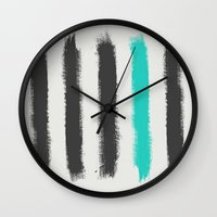 the strokes Wall Clocks featuring Paint Strokes  by Zeke Tucker
