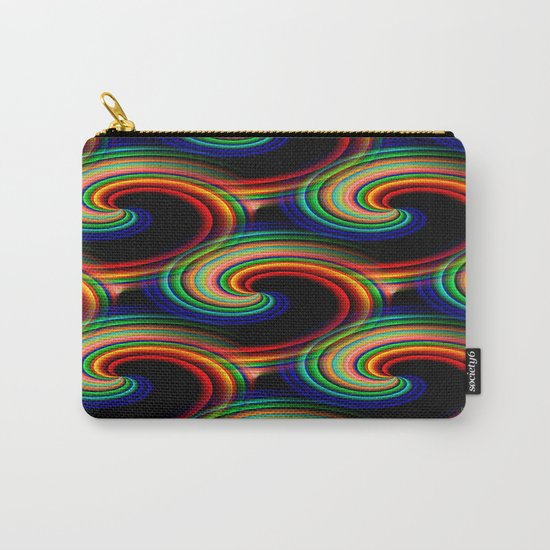 Swirling waves of colors... Carry-All Pouch
