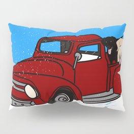 Best Labrador Buddies In Old Red Truck Pillow Sham