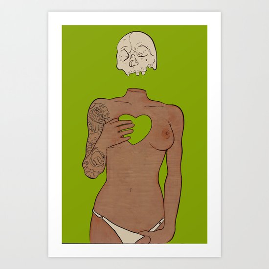i can feel you when the wind blows...and i hate it. Art Print