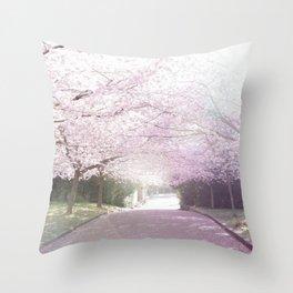 Cherry Blossom Sunday Throw Pillow