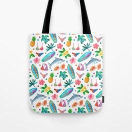 Dotty Summer Beach Pattern Tote Bag