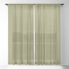 Green Olive | Pantone Fashion Color | Fall : Winter 2019-2020 | London | Solid Color Sheer Curtain