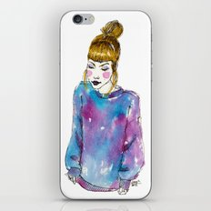 Fashion Illustration - Girl with a Sweater iPhone & iPod Skin