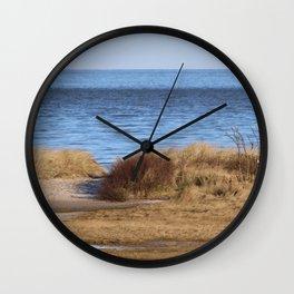 At the beach 4 Wall Clock