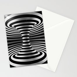 Connected channel (b-w) Stationery Cards