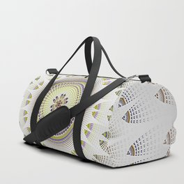 Lacey Mandala in White And Yellow Duffle Bag
