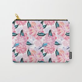 parrots and flowers Carry-All Pouch