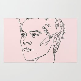 Harry Styles Drawing Rug