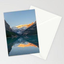 Lake Louise Sunrise Reflection Canadian Rockies Banff National Park Landscape  Stationery Cards