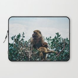 Macaque Mother and Daughter Laptop Sleeve