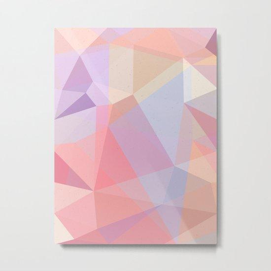 Powder Geometry - bright Metal Print