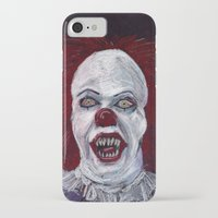 pennywise iPhone & iPod Cases featuring Pennywise by Eric Dockery