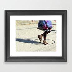 Dancing (Hula Hoop Series) Framed Art Print