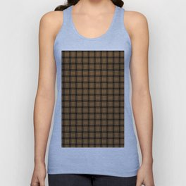 Small Brown Weave Unisex Tank Top