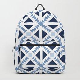 Geo Stamp Blue Backpack