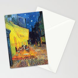 Vincent Van Gogh - Café Terrace at Night (new color editing) Stationery Cards
