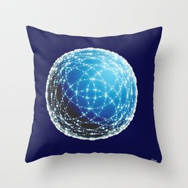 The Blue Orb Throw Pillow