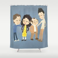 seinfeld Shower Curtains featuring My Seinfeld Fantasy by Vera van Groos