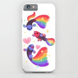 Rainbow guppy 5 iPhone Case