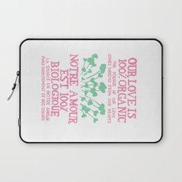 100% Organic Love pink Laptop Sleeve