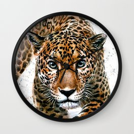 Leopard Wild and Free Wall Clock
